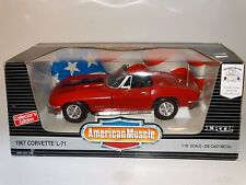ERTL American Muscle 1967 Chevy Corvette L-71 Red 1:18 Scale Diecast Model Car