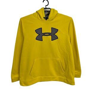 Under Armour heat gear men's sweatshirt hoodie loose yellow size XL/TG