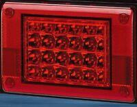 12/24V RED LED Jumbo Tail light Insert, Truck,Bus,Ute,Trailer,Caravan PN 26007