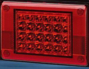12/24V RED LED Jumbo Tail light Insert, Truck,Bus,Ute,Trailer,Caravan,Kenworth