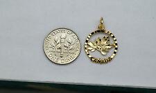 10K gold Canadian maple leaf charm / pendant