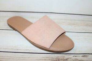 TARGET Brand Nude Faux Suede Slide Size 7 NEW