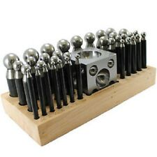 37pc Doming Block and Punch Set Solid Steel Dapping Set Jewellers Tool Metalwork