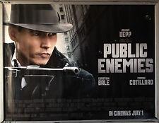 Cinema Poster: PUBLIC ENEMIES 2009 (Main Quad) Johnny Depp Christian Bale