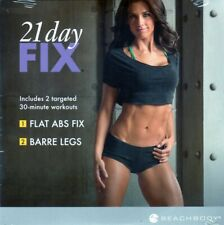 BEACHBODY 21 DAY FIX 2 WORKOUTS - BARRE LEGS & FLAT ABS FIX NEW SEALED