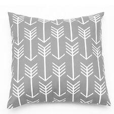 Gray White Arrow Geometric Cotton Canvas Decor Throw Cushion Cover Pillow case