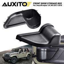 2X Front Door Storage Pockets Organizer Box for Jeep Wrangler JK JKU 2011-2018