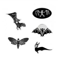 Creative Funny Bat Butterfly Witch Bee Dinosaur Fossil Brooch Enamel Pin Gifts