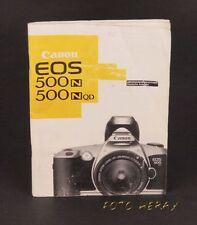 Canon EOS 500N 500NQD originale Bedienungsanleitung 03816
