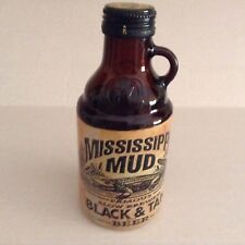 Mississippi Mud Black & Tan Beer Bottle With Lid - empty