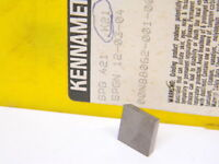 NEW SURPLUS 3PCS.  KENNAMETAL SPG 421  GRADE: K21 CARBIDE INSERTS
