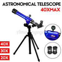 40X 170mm Focus Astronomical Refractor Telescope Eyepieces Tripod Kid Beginners