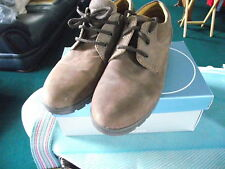 Signola-marrone in pelle scamosciata scarpe basse-taglia 40