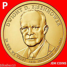 2015-P DWIGHT EISENHOWER PRESIDENTIAL DOLLAR FROM MINT ROLLS UNCIRCULATED