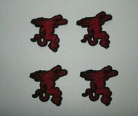 Lot of 4 Fireball Cinnamon Whisky Whiskey Devil Iron On Patches