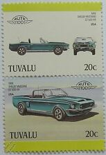 1968 Shelby Mustang GT 500KR Car Stamps (Leaders of the World / Auto 100)