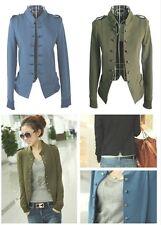 Manteau Femme Veste Manche longue Militaire Collier Jacket Blazer Coat Tops FN