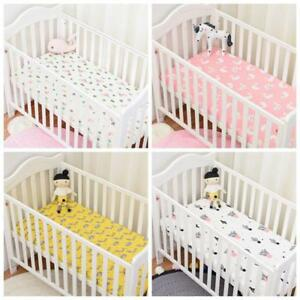 Baby Bed Fitted Sheet With Elastic Band Crib Mattress Protector 130 x 70 cm