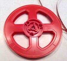 """Vintage 8mm 5"""" 200ft. Plastic Film Reel In Red #2"""