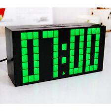 Digital Large Big Jumbo LED Snooze Wall Desk Alarm Calendar Travel Clock new