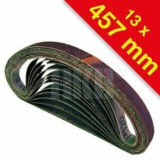 120 X Gewebe-Schleifbänder, 13x457  je 20x K40-60-80-120-180-240, Korund, 420074