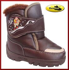 Baby-Schuhe im Stiefel & Boots-Stil aus Kunstleder mit Klettverschluss für Jungen
