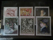 FRANCE, LOT 006 timbres TABLEAUX, ART, PEINTURES, neufs**, LUXE, PAINTING, MNH