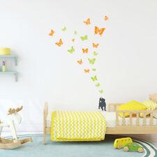 DECOWALL GATTINO Farfalla Vivaio Bambini Muro Rimovibile Adesivi Decalcomania DW-1305AC