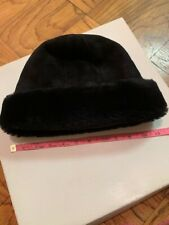 Black shearling hat Beautiful Inside And Out