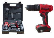 HEAVY DUTY 18V LITHIUM LI-ION CORDLESS HAMMER COMBI DRILL DRIVER SCREWDRIVER NEW