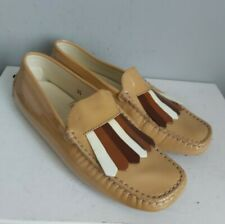 TOD'S Ladies Light Tan Patent Leather Loafers Shoes size UK 2.5 EU 35