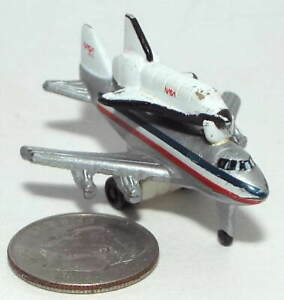 Very Small Micro Machine Boeing 747 Jet Aircraft with NASA Space Shuttle