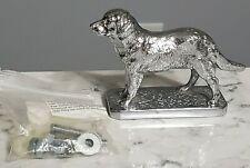 Vintage Lejeune Car Mascot Chrome Labrador Dog Hood Ornament w/ Hardware