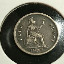 1838 GREAT BRITAIN SILVER 4 PENCE GREAT COIN