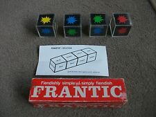 1982 BOXED  VINTAGE FRANTIC CUBE PUZZLE WITH SOLUTION SHEET BY WELLINGTONS LINCS