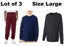 Lot of Boys' Long Sleeve Crew T-Shirt V-notch Sweatshirt Fleece Sweatpants L