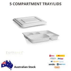 Takeaway Compartment Plates/Tray Biodegradable Sugarcane fiber