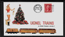 1935 Lionel Trains & Pin Up Girl Featured on Collector's Envelope *A249