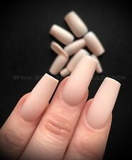 COFFIN False NAIL SALE  15 Sets 360 Pieces Full Cover peach nude matte