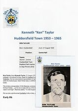 KEN TAYLOR HUDDERSFIELD TOWN 1953-1965 ORIGINAL SIGNED MAGAZINE PICTURE CUTTING