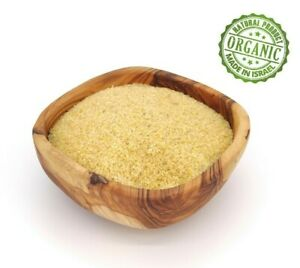 Organic Bulgur Fine Wheat Groats Kosher Israeli Product Food Jerusalem Groats