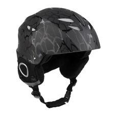 Men Women Ski Snowboard Snowmobile Snow Sports Protect Helmet L Black Stripe