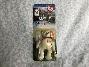 McDonald's Ty Beanie Baby Maple The Bear With Tag Unopened
