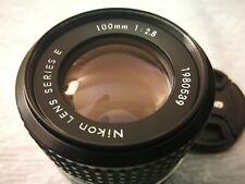 Nikon Nikkor 100mm F/2.8 Series E AIS Manual Focus Lens