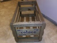 OLD WOOD WOODEN COLACE PRODUCE CRATE BOX ADVERTISING EXCELLENT CONDITION
