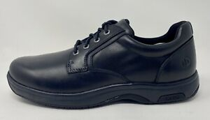 Dunham Men's 8000Service Plaintoe Oxford, Black, Size 11 D Free Shipping!