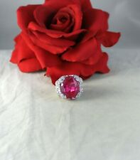 Gorgeous HUGE Pink White Rhinestone   Size 7  Cocktail   Ring CAT RESCUE