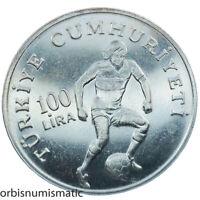 Turkey 100 Lira commemorative coin 1982 World Football championship
