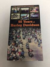 An American Legend...90 Years of Harley Davidson VHS Video Tape