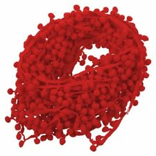 20 Yard 10MM PomPom Trim Ball Fringe Ribbon DIY Sewing Accessory Lace Red N9U5